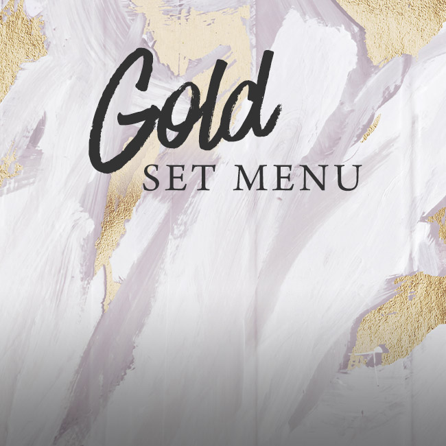 Gold set menu at The Merlin