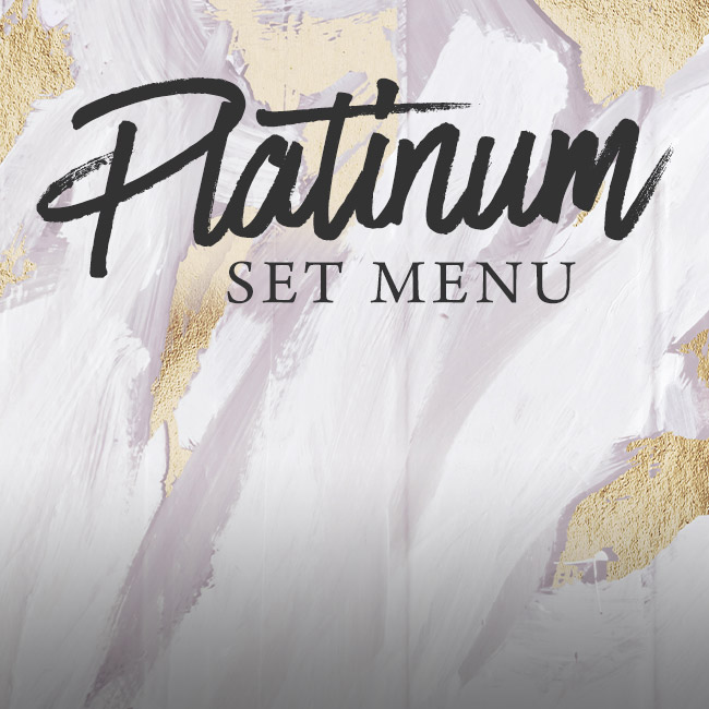 Platinum set menu at The Merlin