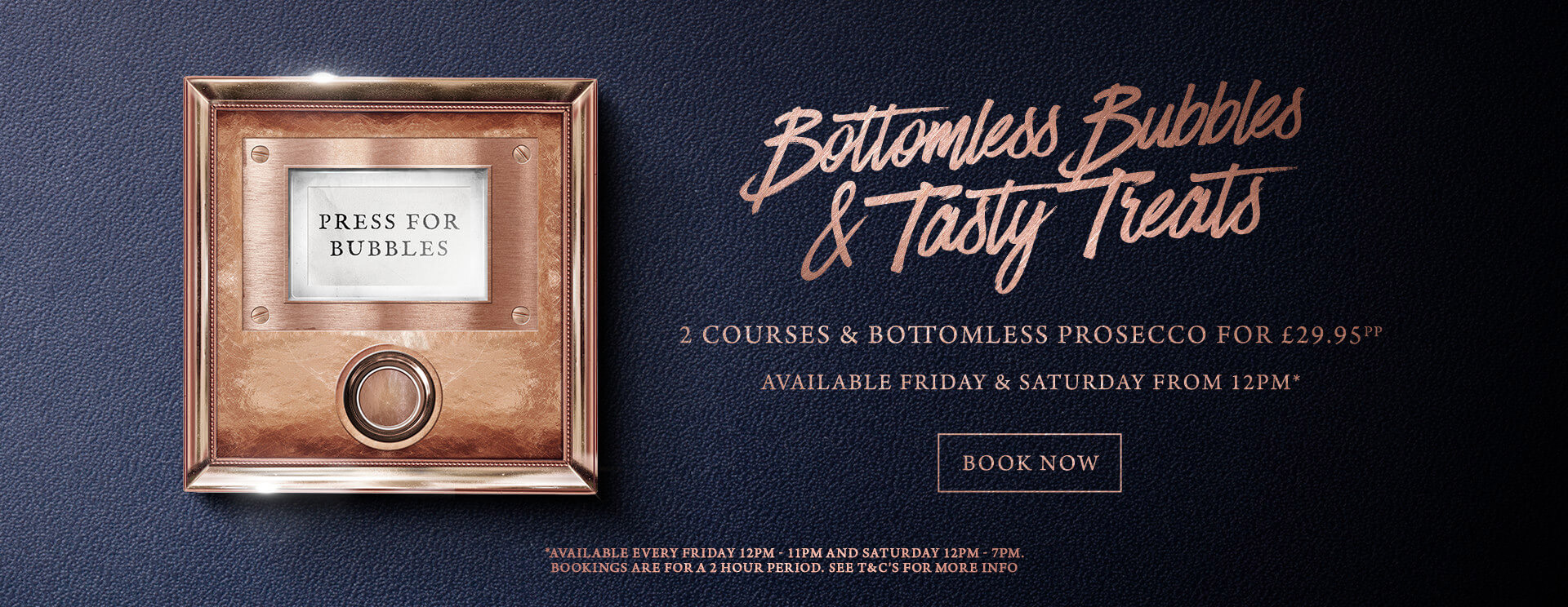 Bottomless Bubbles The Merlin - Book now