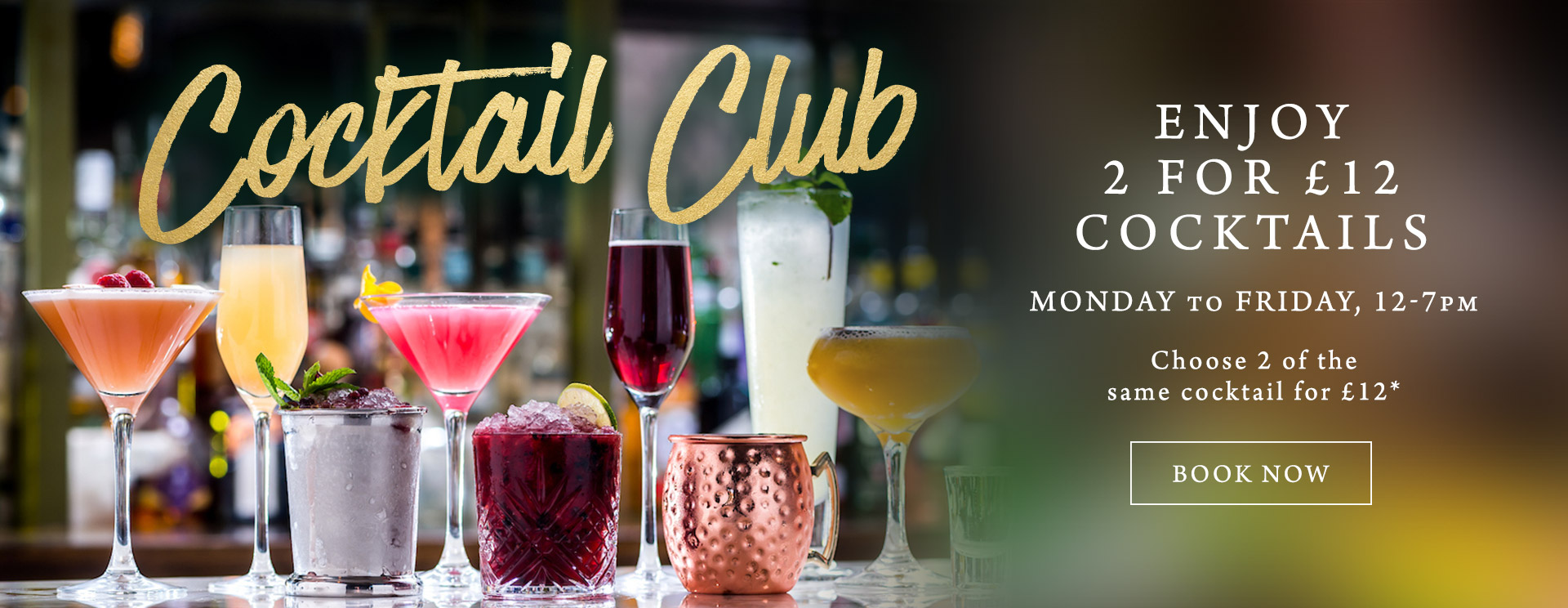 2 for £12 cocktails at The Merlin